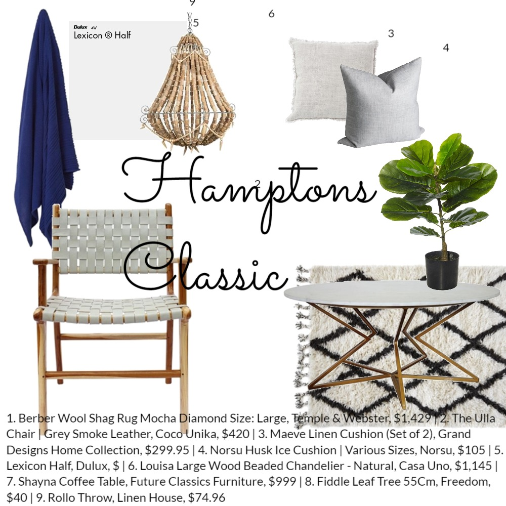 Hamptons Classic Mood Board by Coco Unika on Style Sourcebook