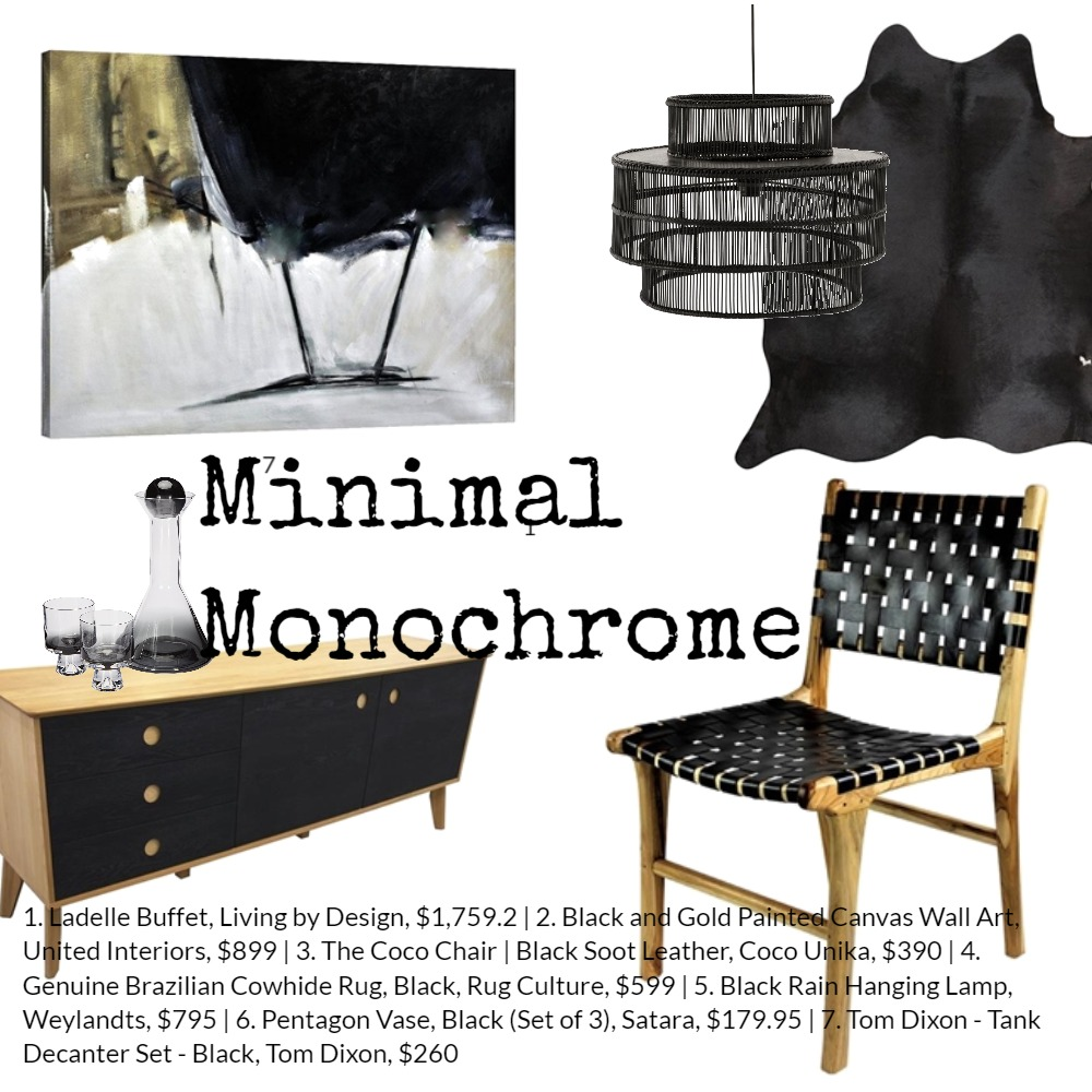 Minimal Monochrome Mood Board by Coco Unika on Style Sourcebook