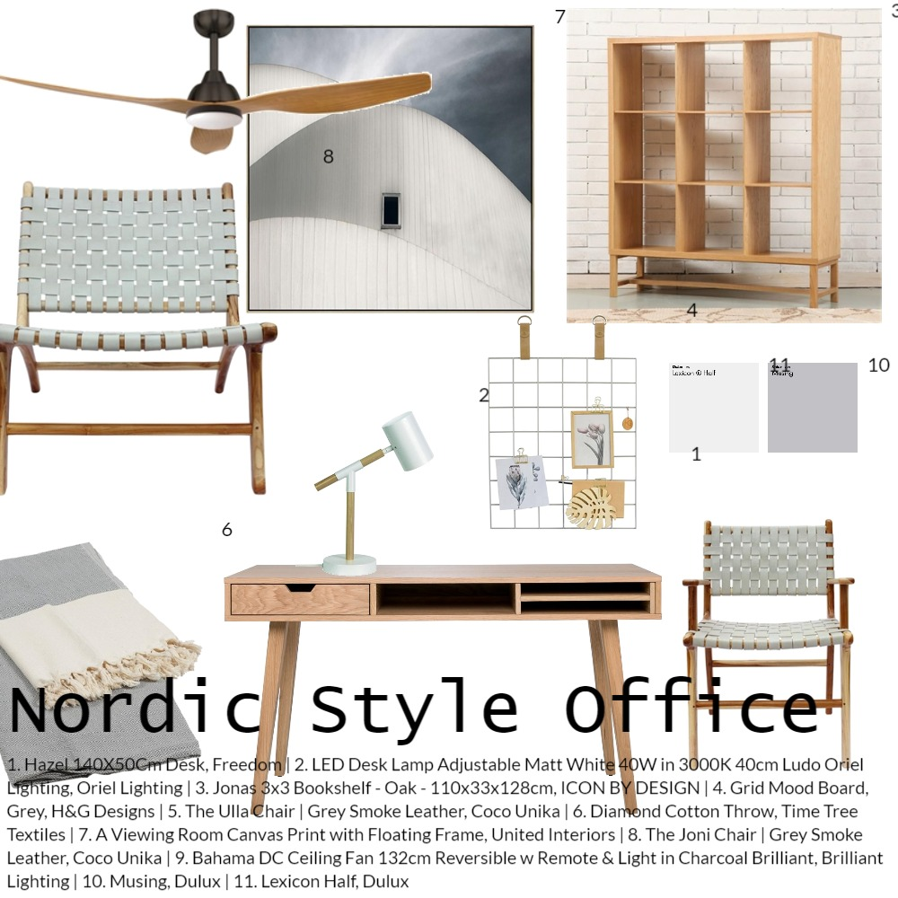 Nordic Style Home Office Mood Board by Coco Unika on Style Sourcebook