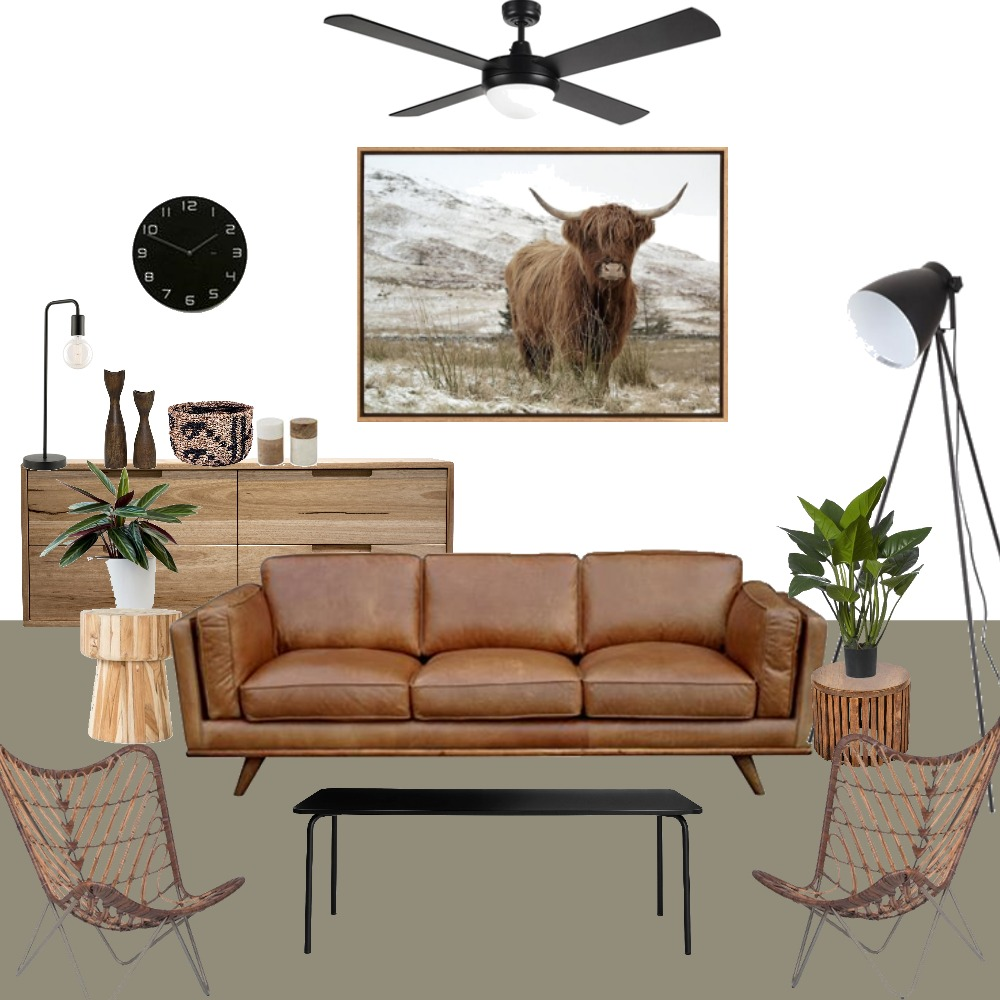 Brown living room Interior Design Mood Board by fakata on Style Sourcebook