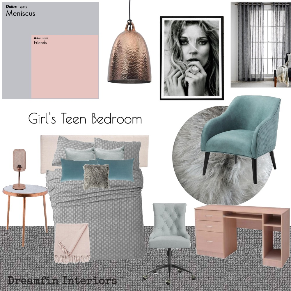 Girls Teen Bedroom 3 Mood Board by Dreamfin Interiors on Style Sourcebook