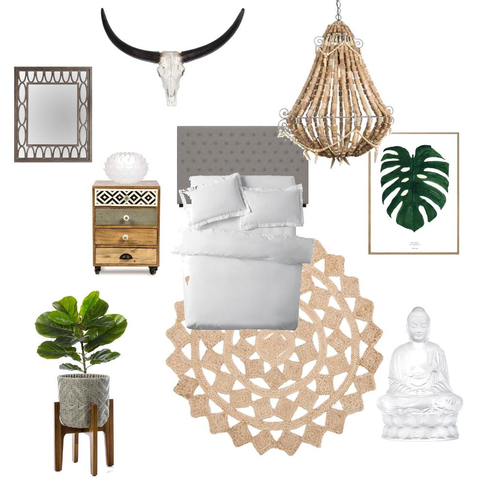 boho bedroom Mood Board by indiblu on Style Sourcebook