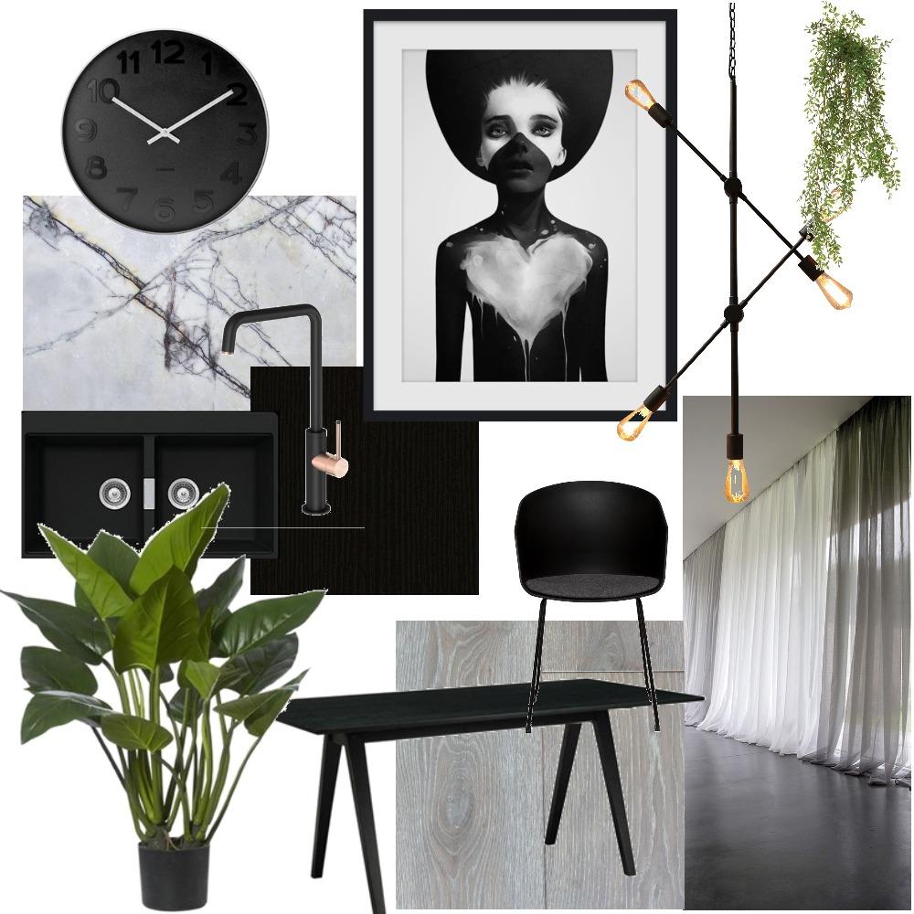 Moody Kitchen Interior Design Mood Board by natashad on Style Sourcebook
