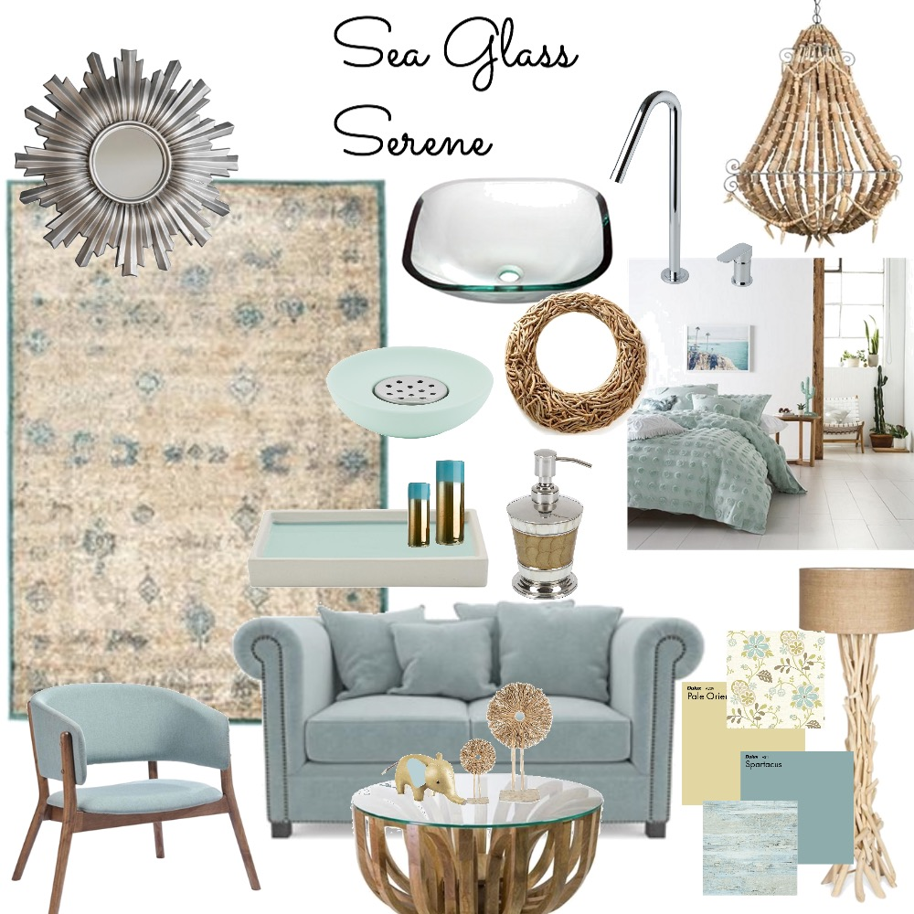 Sea Glass Serene 2 Mood Board by Catleyland on Style Sourcebook