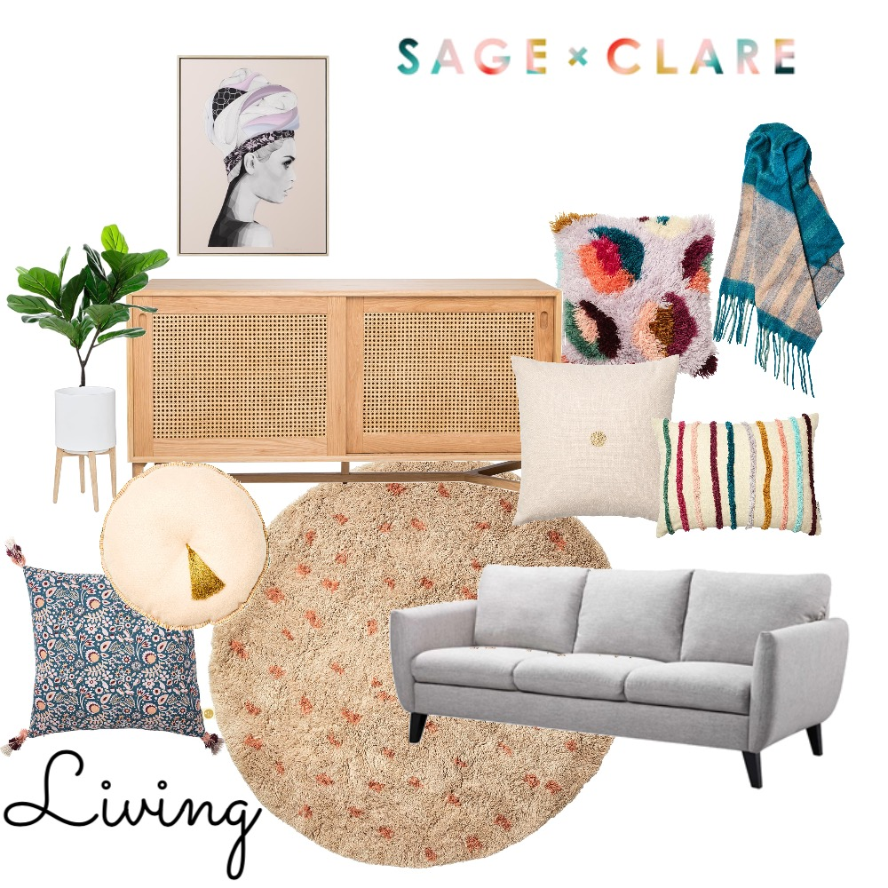 Sage x Clare Living Room Mood Board by TheDesignSpace on Style Sourcebook