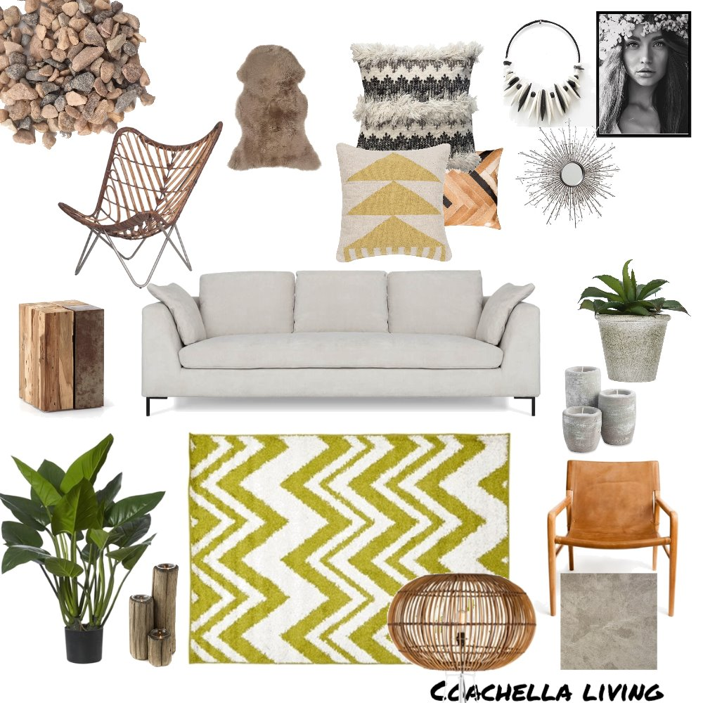 Coachella living Mood Board by paolaz on Style Sourcebook