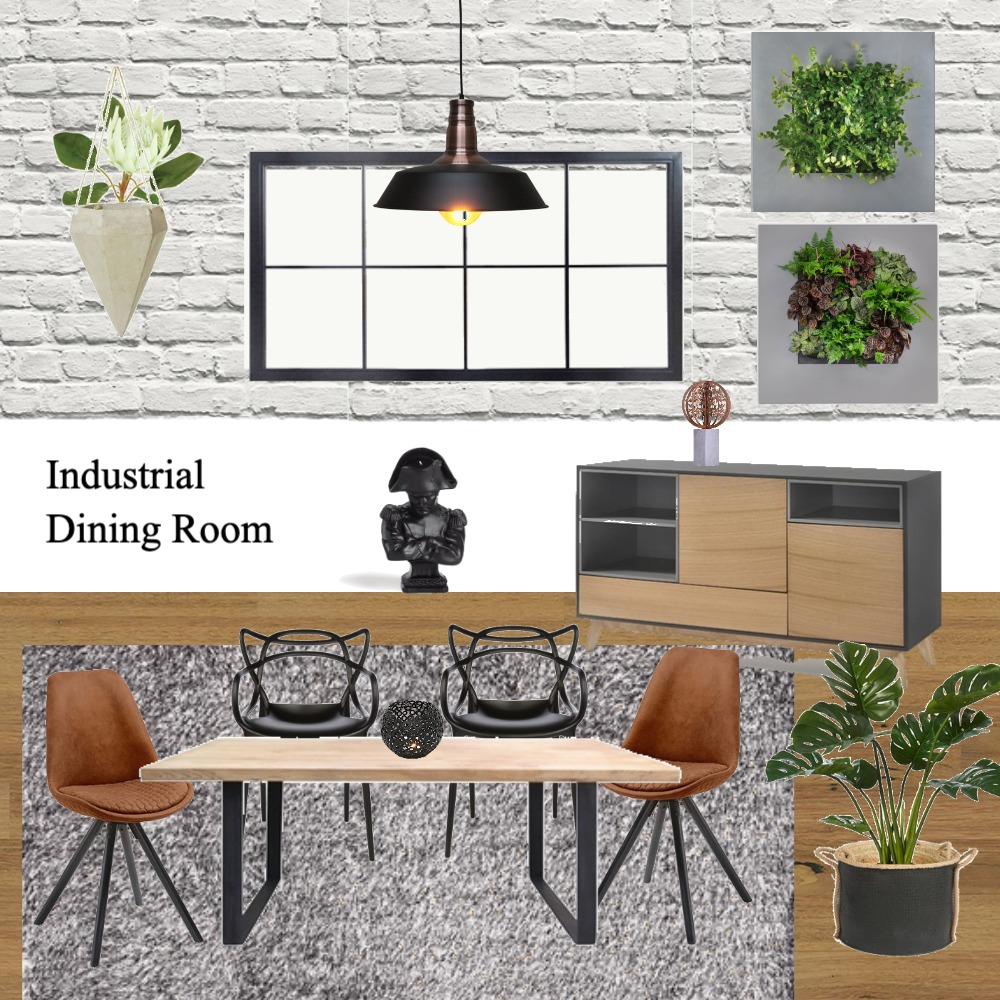 Industrial Dining Romm Mood Board by Dreamfin Interiors on Style Sourcebook