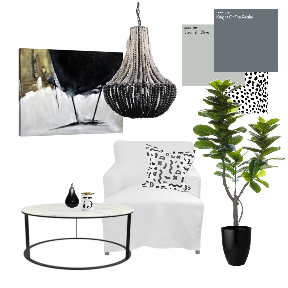 Black, white & a touch of tribal Mood Board by E & H Design on Style Sourcebook