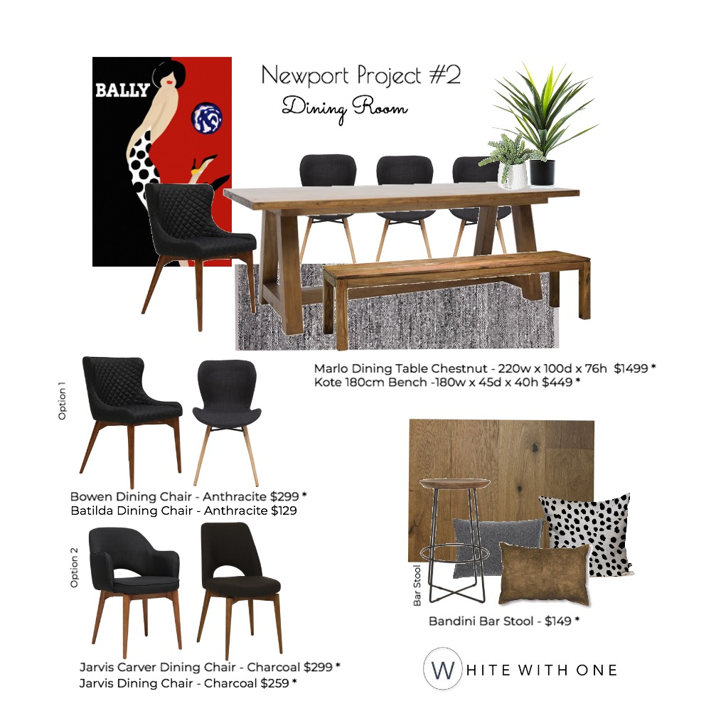 Newport Project - Dining Draft V3 Mood Board by White With One Interior Design on Style Sourcebook