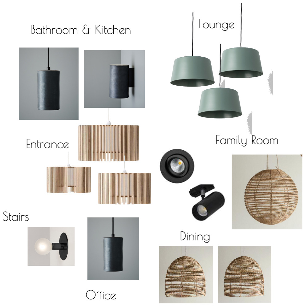 Lighting Mood Board by The Place Project on Style Sourcebook