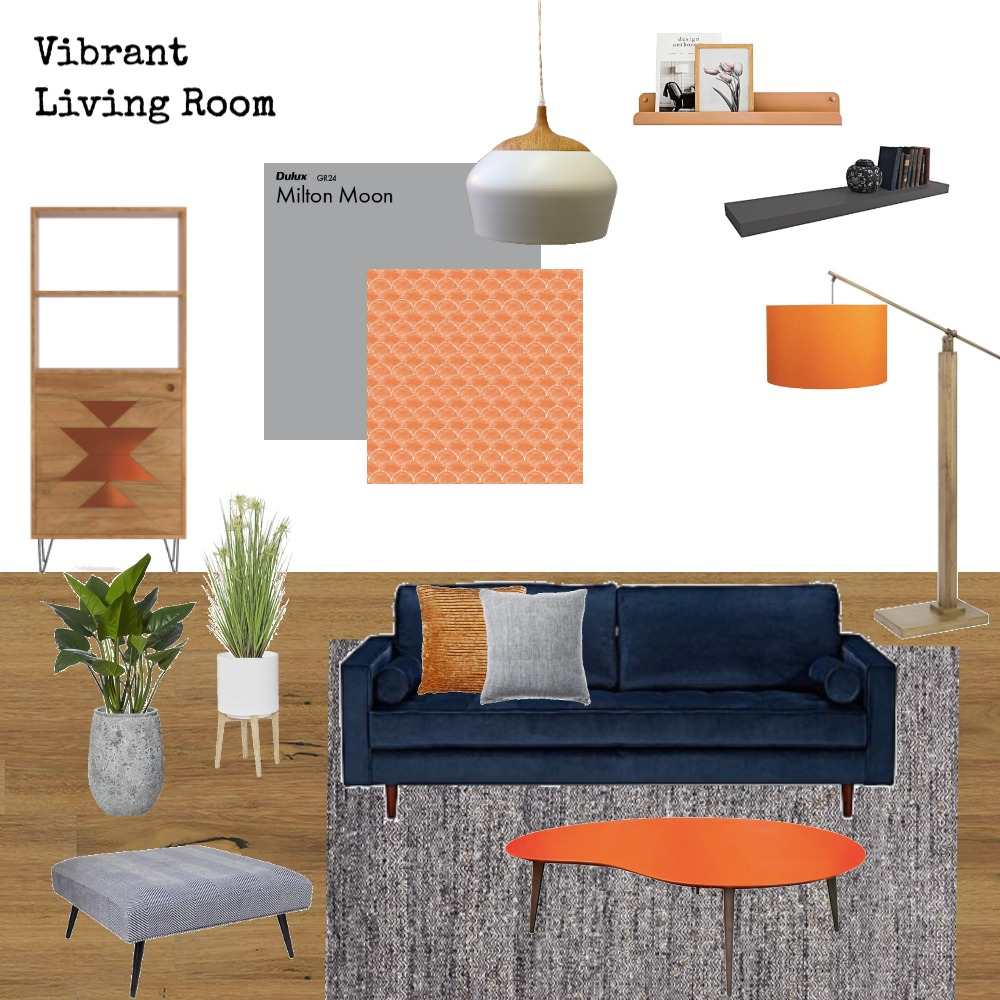 Vibrant Living Room Mood Board by Dreamfin Interiors on Style Sourcebook
