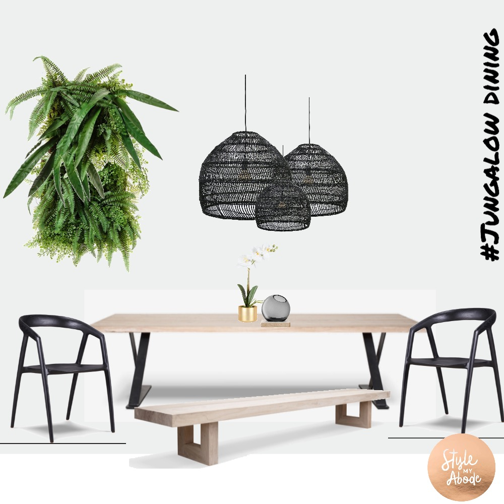 Jungalow Dining Interior Design Mood Board by Style My Abode Ltd on Style Sourcebook