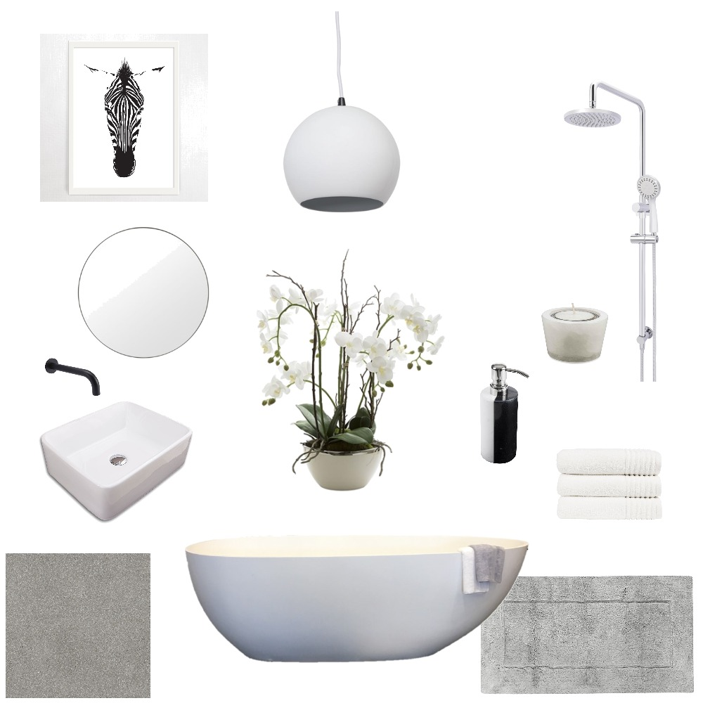 White Bath Mood Board by LiDesigns on Style Sourcebook