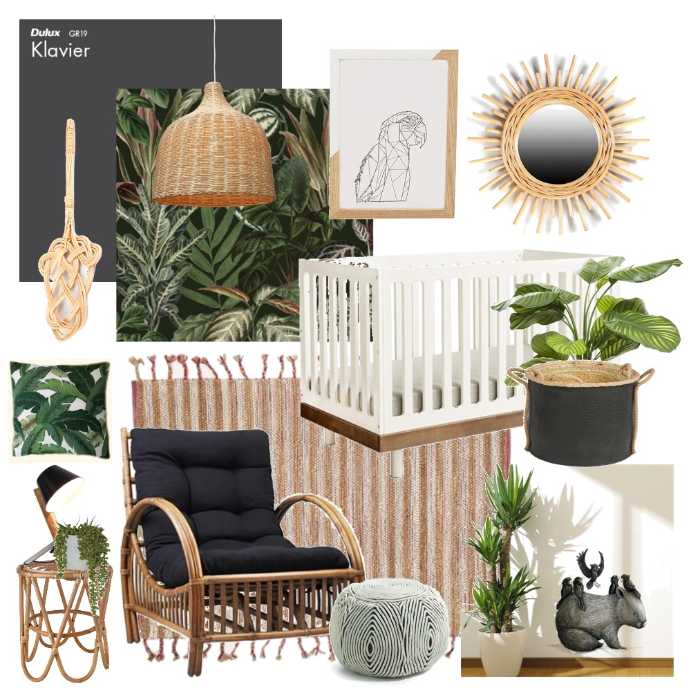 Jungle nursery Interior Design Mood Board by Thediydecorator on Style Sourcebook