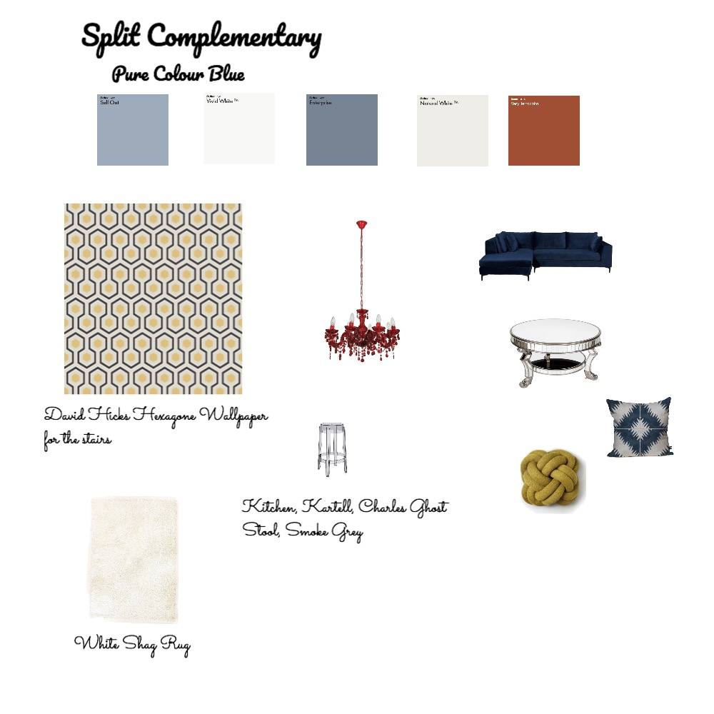 Split Complementary Mood Board by pmccallan0 on Style Sourcebook