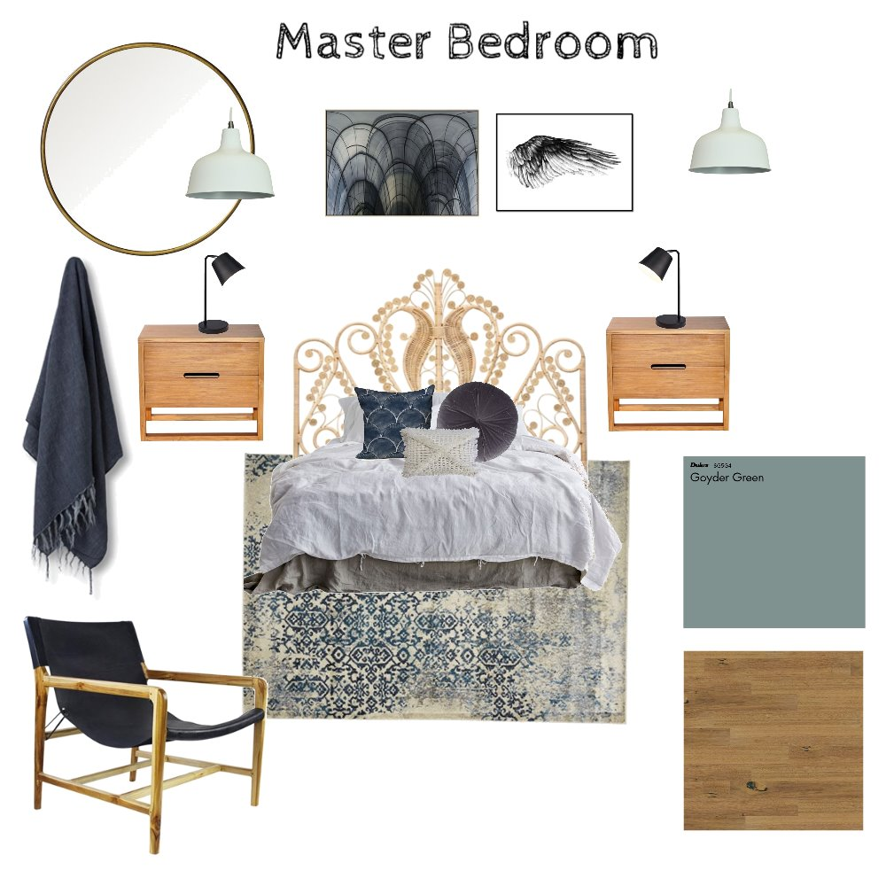 Master Bedroom Interior Design Mood Board by SallyT on Style Sourcebook
