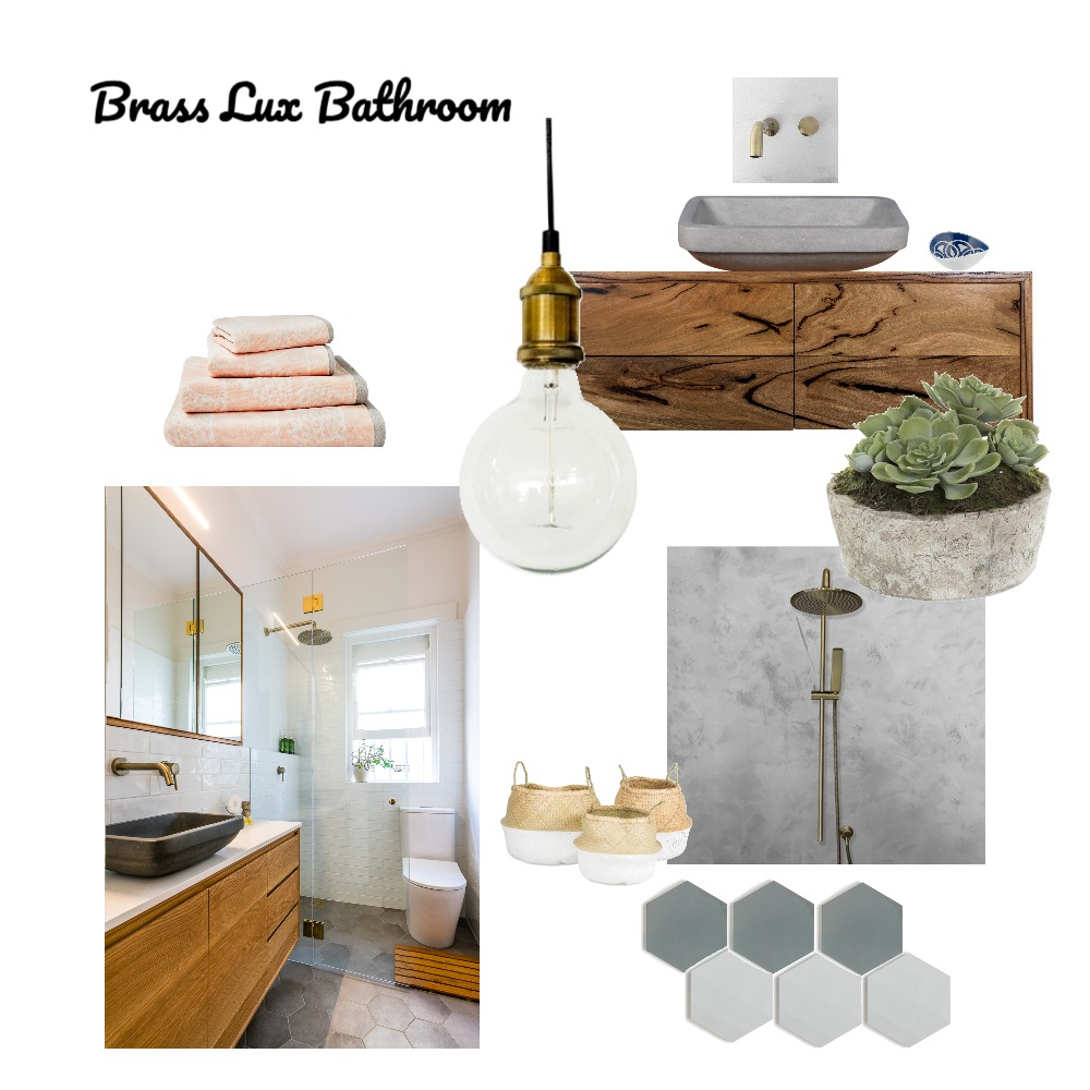 Brass Lux Bathroom Mood Board by Just In Place on Style Sourcebook