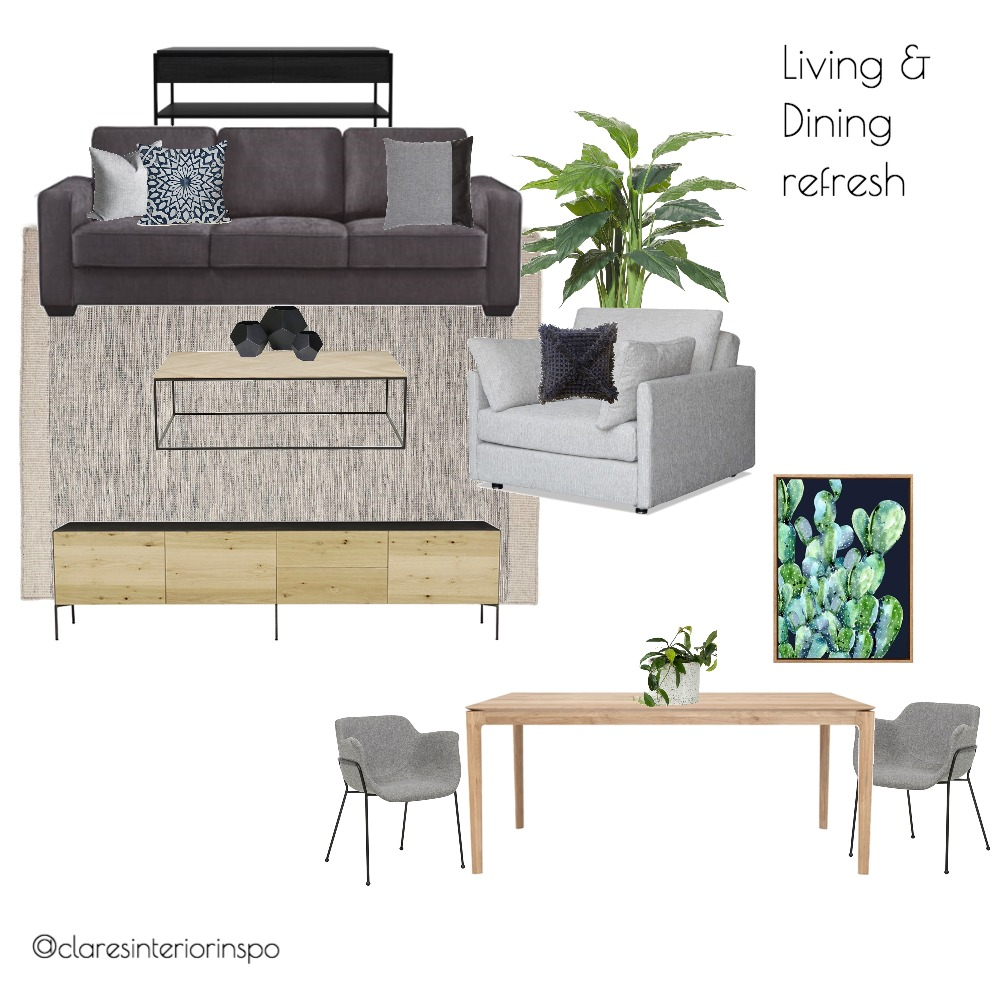 Living. Dining Refresh Mood Board by hunterrosedesign on Style Sourcebook