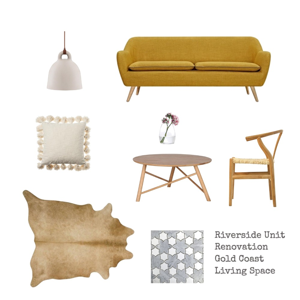 Riverside Unit Reno - Living Space Mood Board by bechnotechno on Style Sourcebook