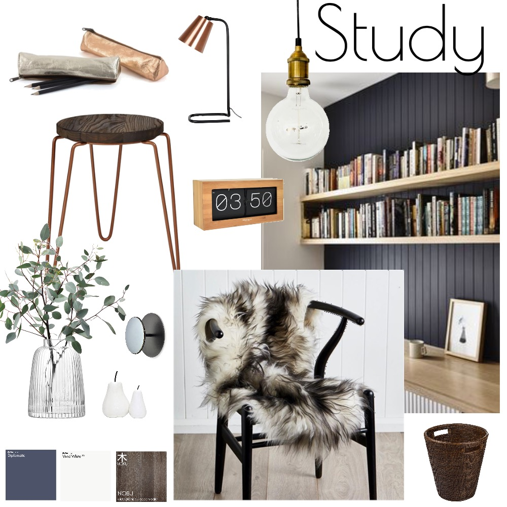 Study Nook Mood Board by Geotoria on Style Sourcebook