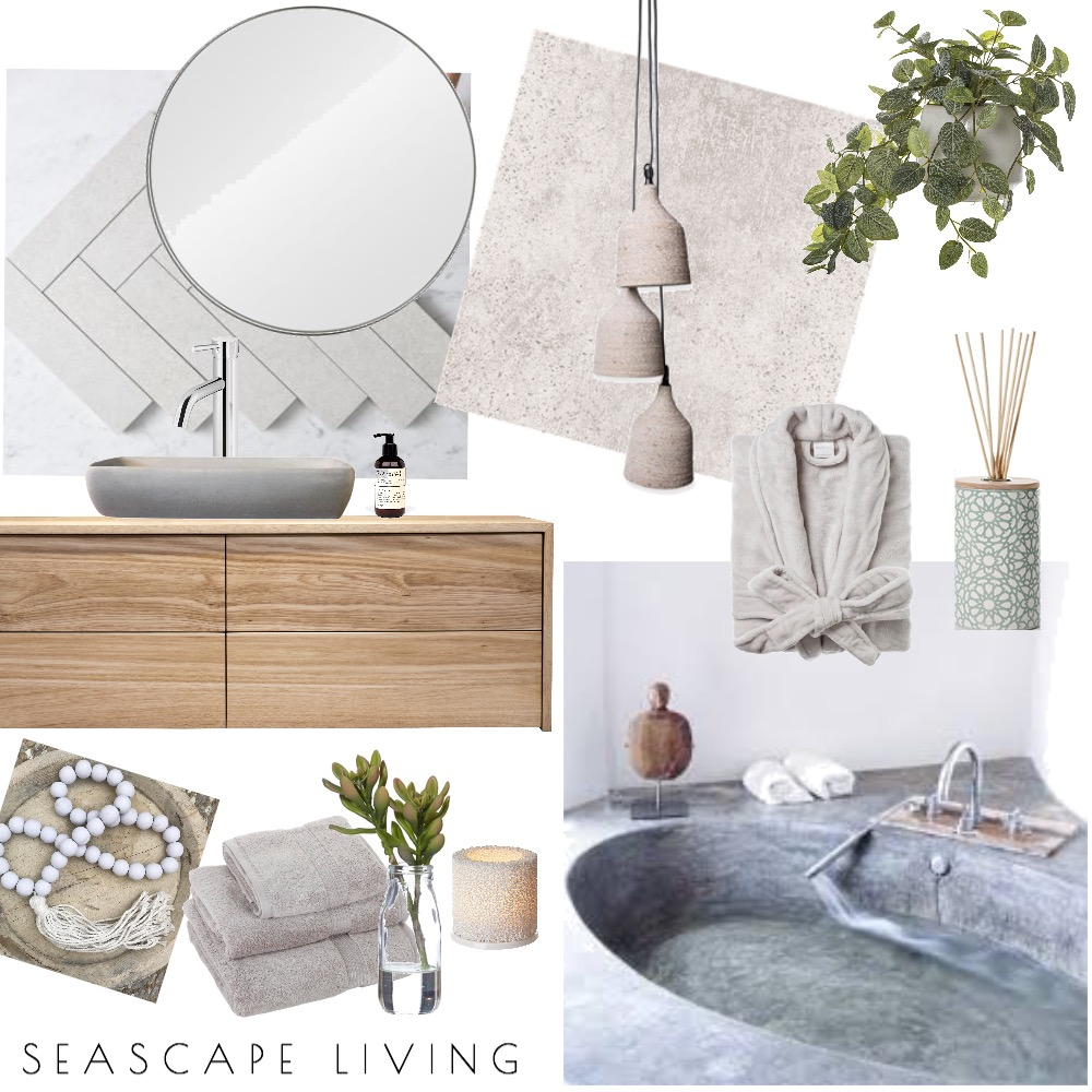 Organic Bathroom Mood Board by Seascape Living on Style Sourcebook