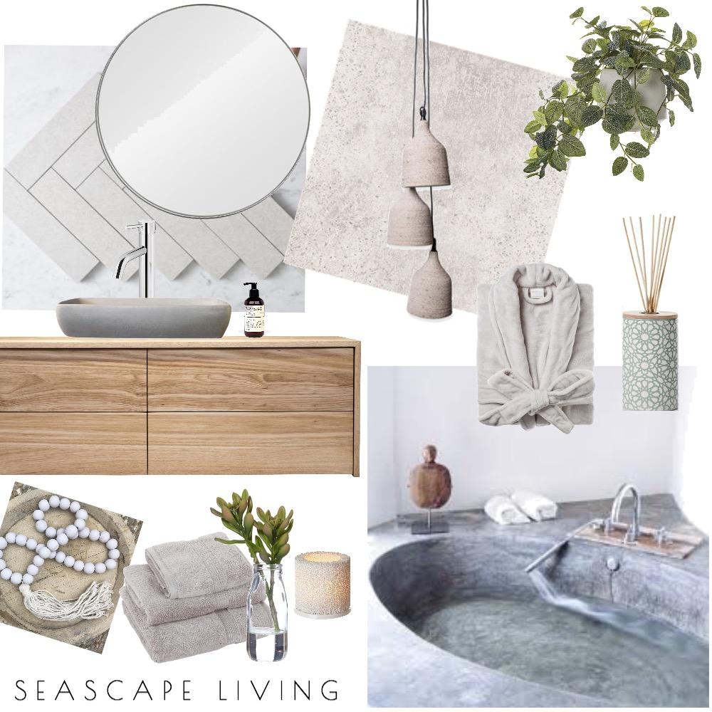 Organic Bathroom Interior Design Mood Board by Seascape Living on Style Sourcebook