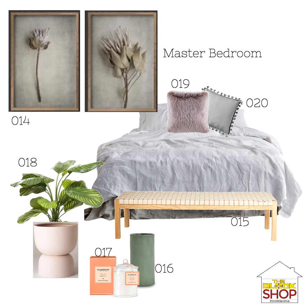 Jane McKinnes Master Bed Mood Board by harriehighpants on Style Sourcebook