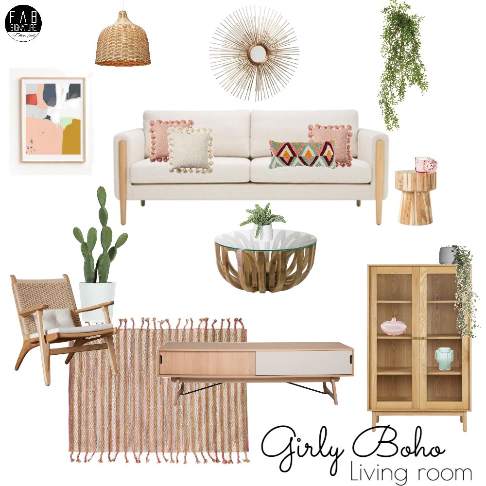 Girly boho! Mood Board by FabSignature on Style Sourcebook