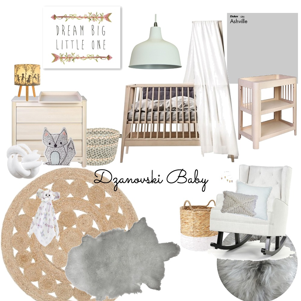 Laura's baby nursery inspo Interior Design Mood Board by melzrio on Style Sourcebook