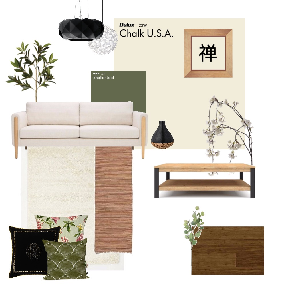 Zen inspired Living Room Mood Board by Danielle_m on Style Sourcebook