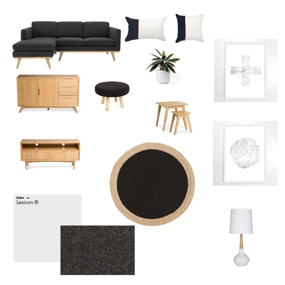 Monocrome Living Mood Board by TahleahWilliams on Style Sourcebook