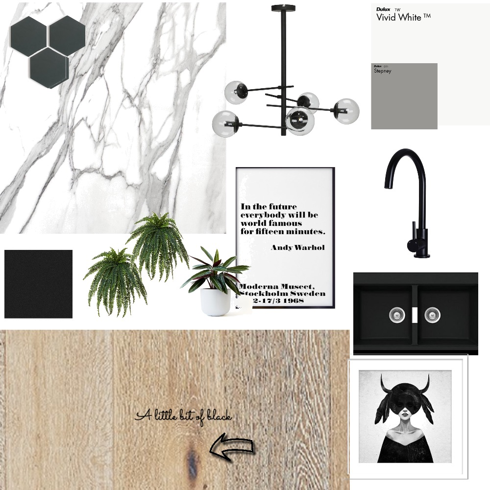 A little black kitchen Mood Board by Third Layer Interiors  on Style Sourcebook