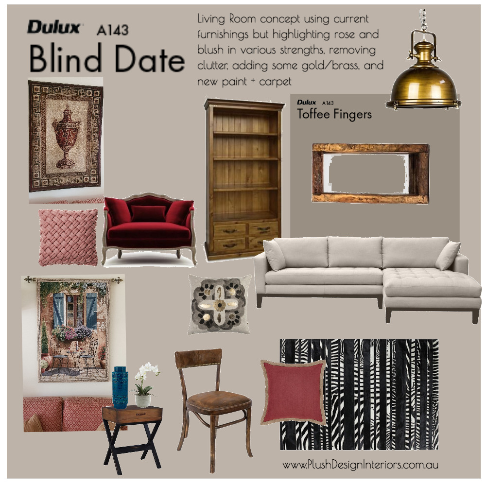 Raelene S Living Room #2 Interior Design Mood Board by Plush Design Interiors on Style Sourcebook