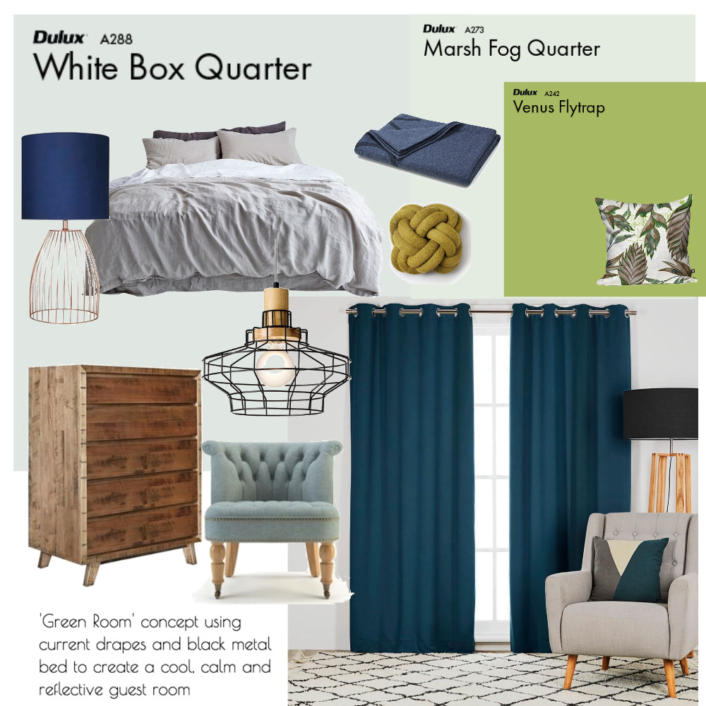 Raelene S 'Green Room' Guest Bedroom Mood Board by Plush Design Interiors on Style Sourcebook