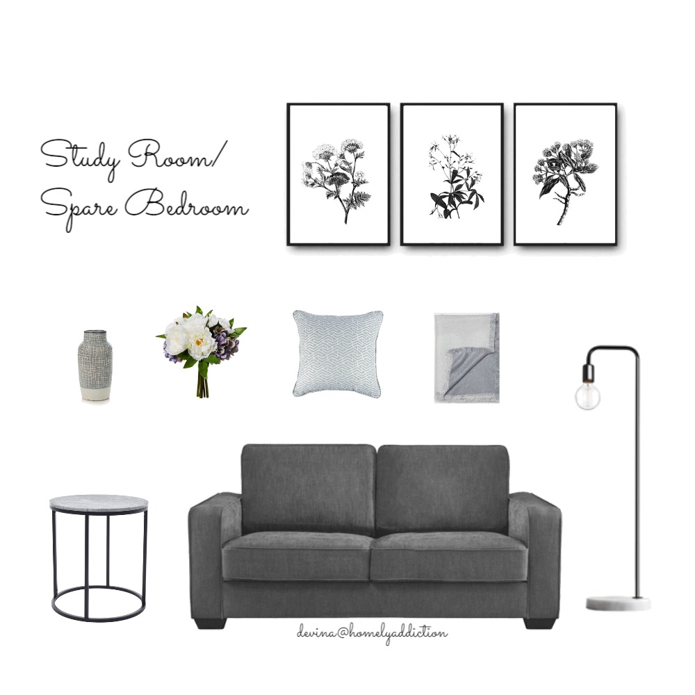Kavanagh study / bedroom Mood Board by HomelyAddiction on Style Sourcebook