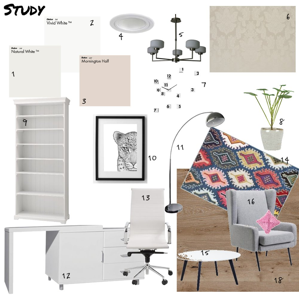 Study Interior Design Mood Board by AlisonM on Style Sourcebook