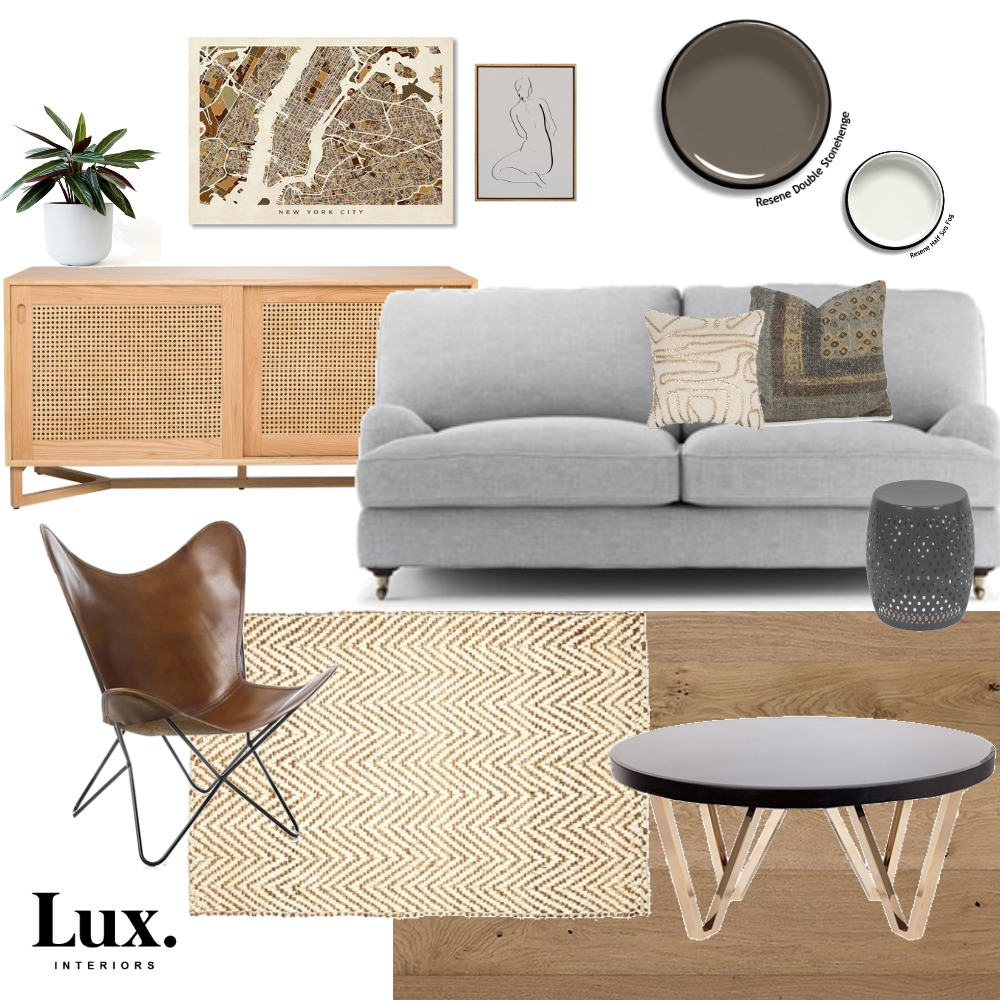 Cosy Living Room Mood Board by Lux Interiors on Style Sourcebook