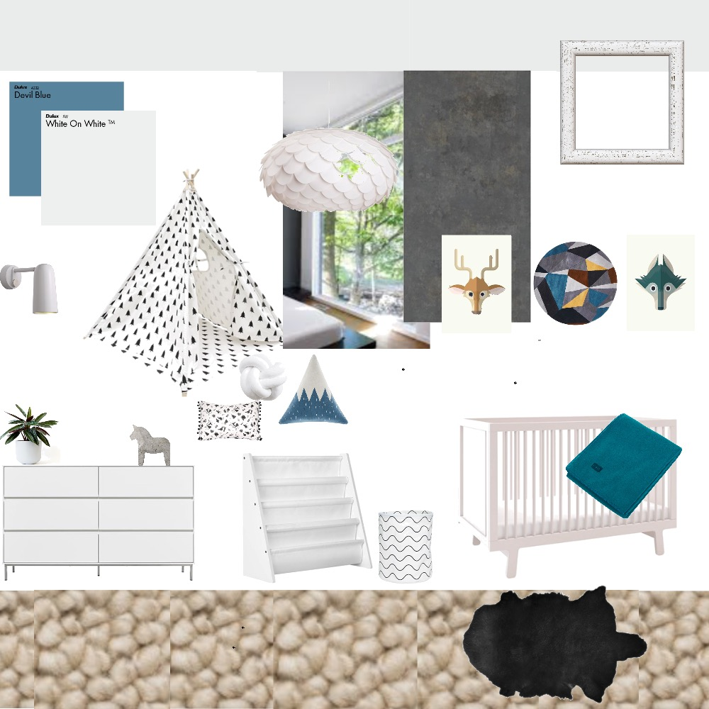 Module 10-Archies room Mood Board by Anna on Style Sourcebook