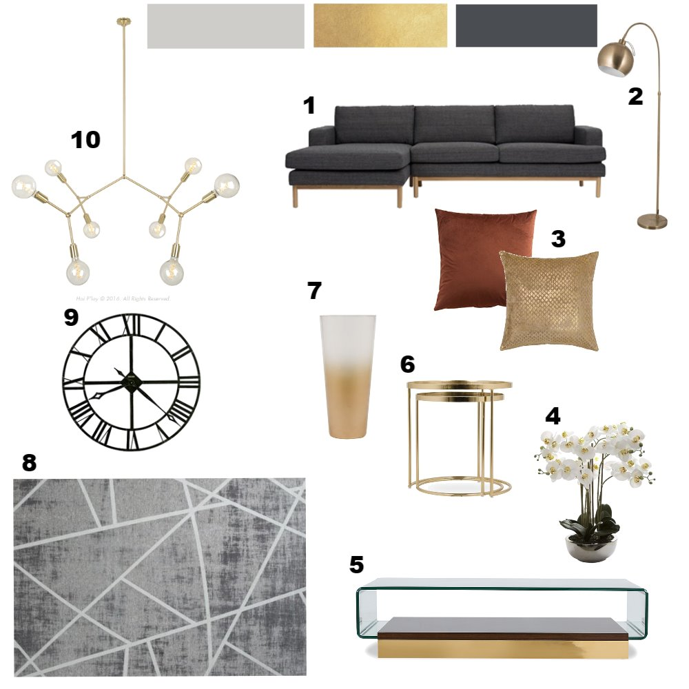 Gold Accent Mood Board by Zamazulu on Style Sourcebook