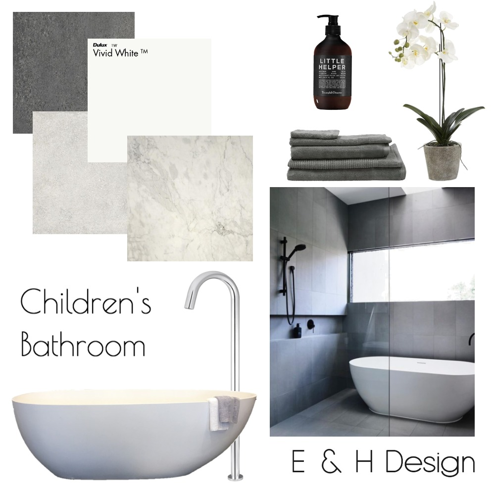 Childrens Bathroom Mood Board by E & H Design on Style Sourcebook