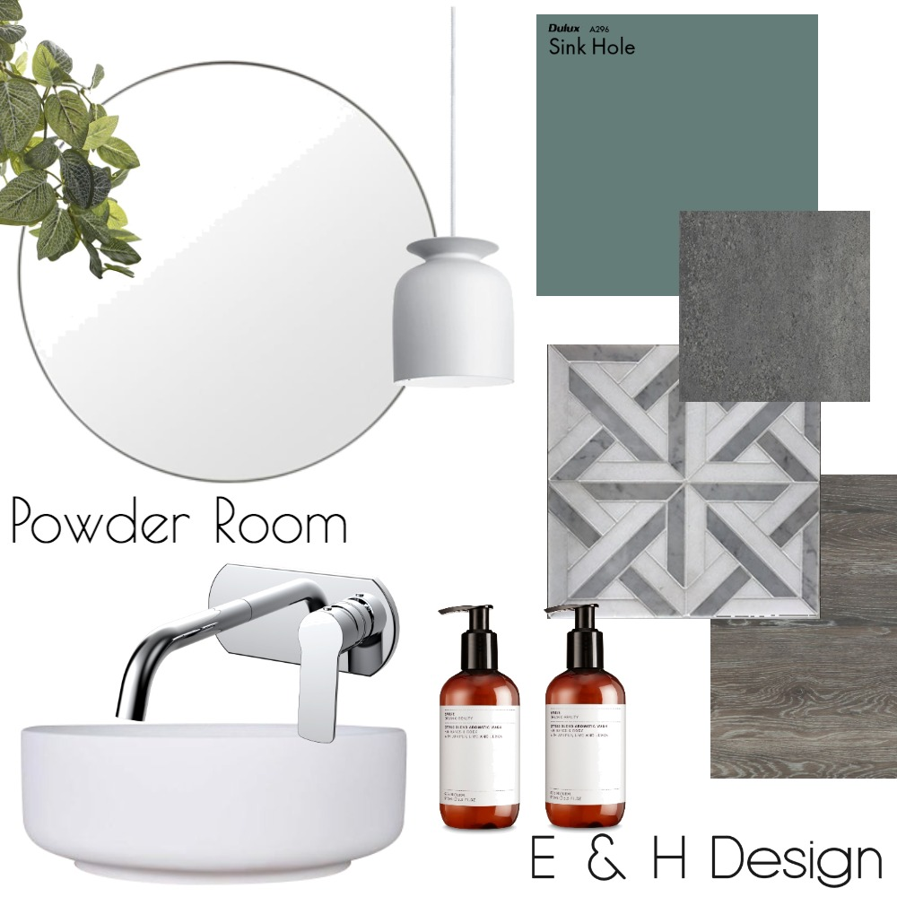 Powder Room Mood Board by E & H Design on Style Sourcebook