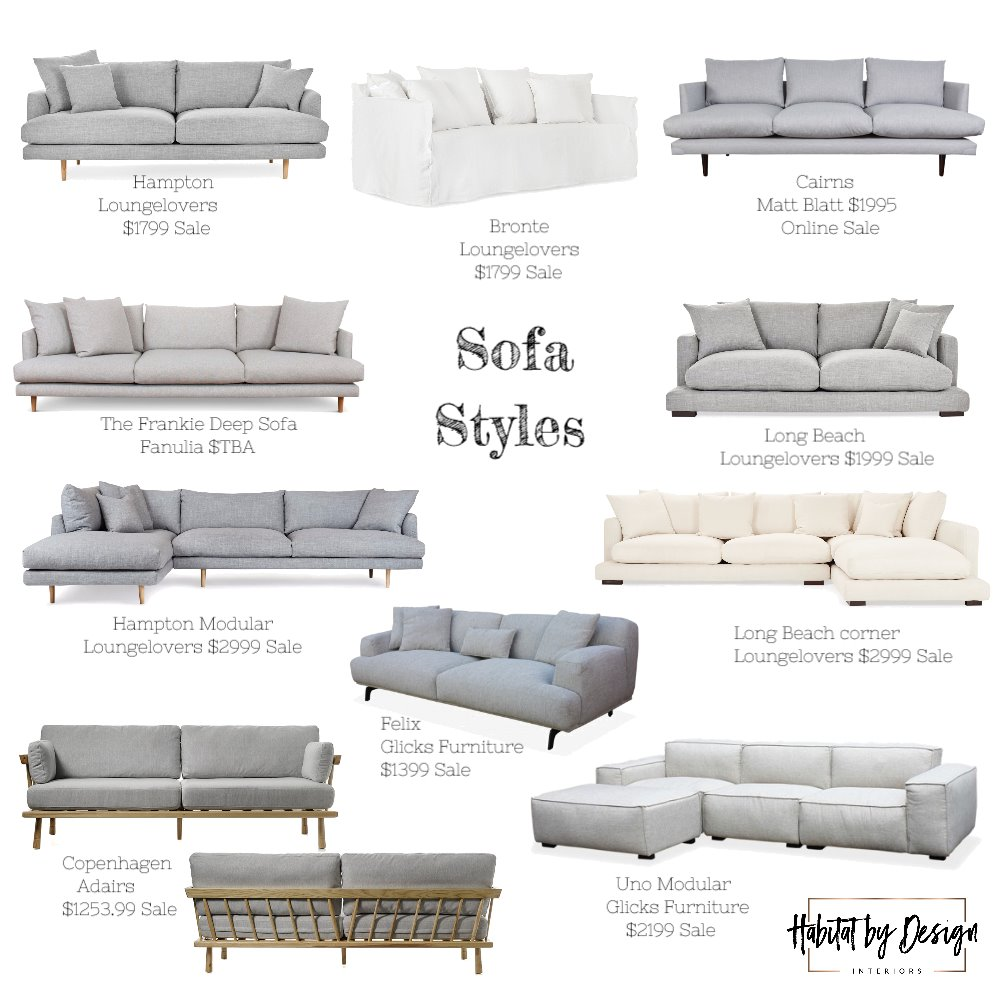 Sofa Options - Elyse Mood Board by Habitat_by_Design on Style Sourcebook