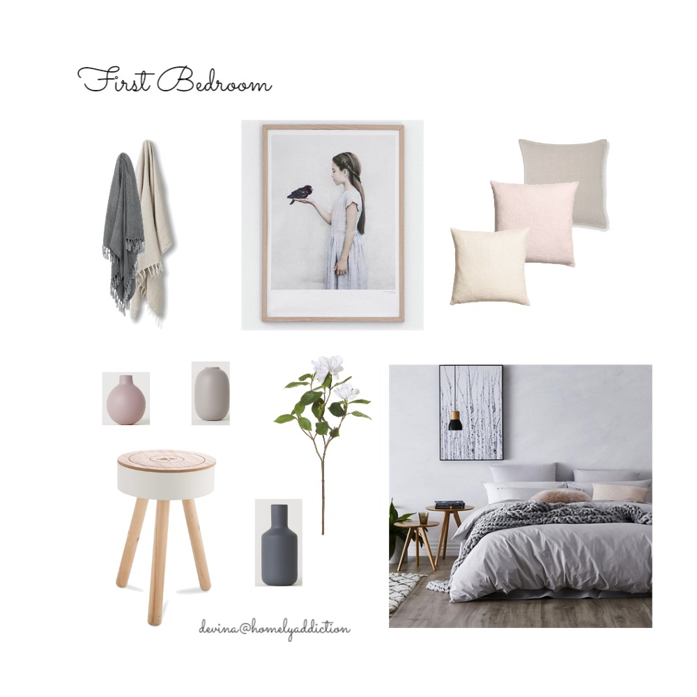 Maison Canergie first bedroom Mood Board by HomelyAddiction on Style Sourcebook
