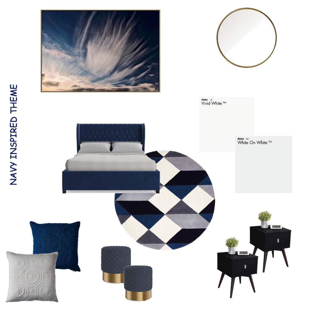 Navy Inspired bedroom theme Mood Board by NicoleVella on Style Sourcebook