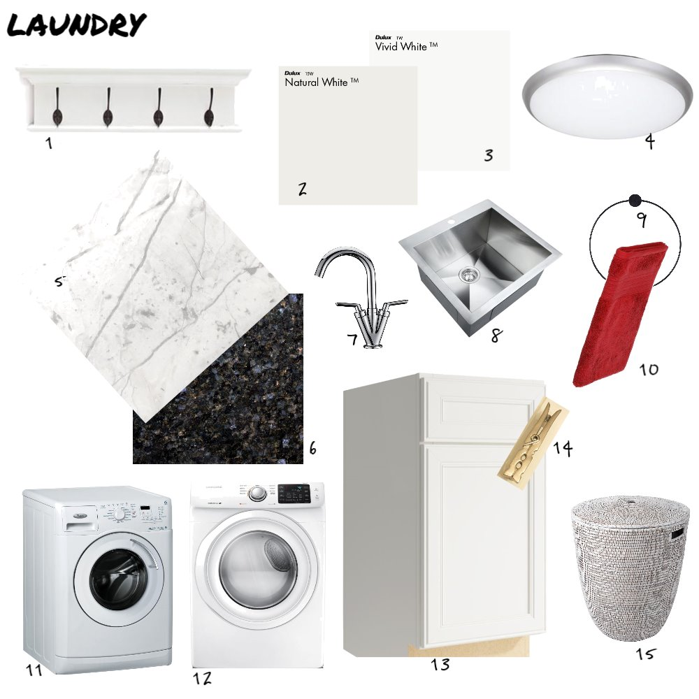 Laundry Interior Design Mood Board by AlisonM on Style Sourcebook