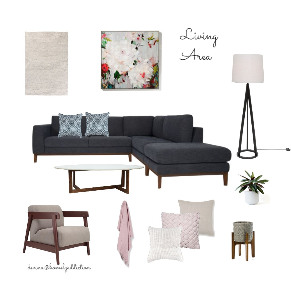Jo and Merv's Living Area Interior Design Mood Board by HomelyAddiction on Style Sourcebook