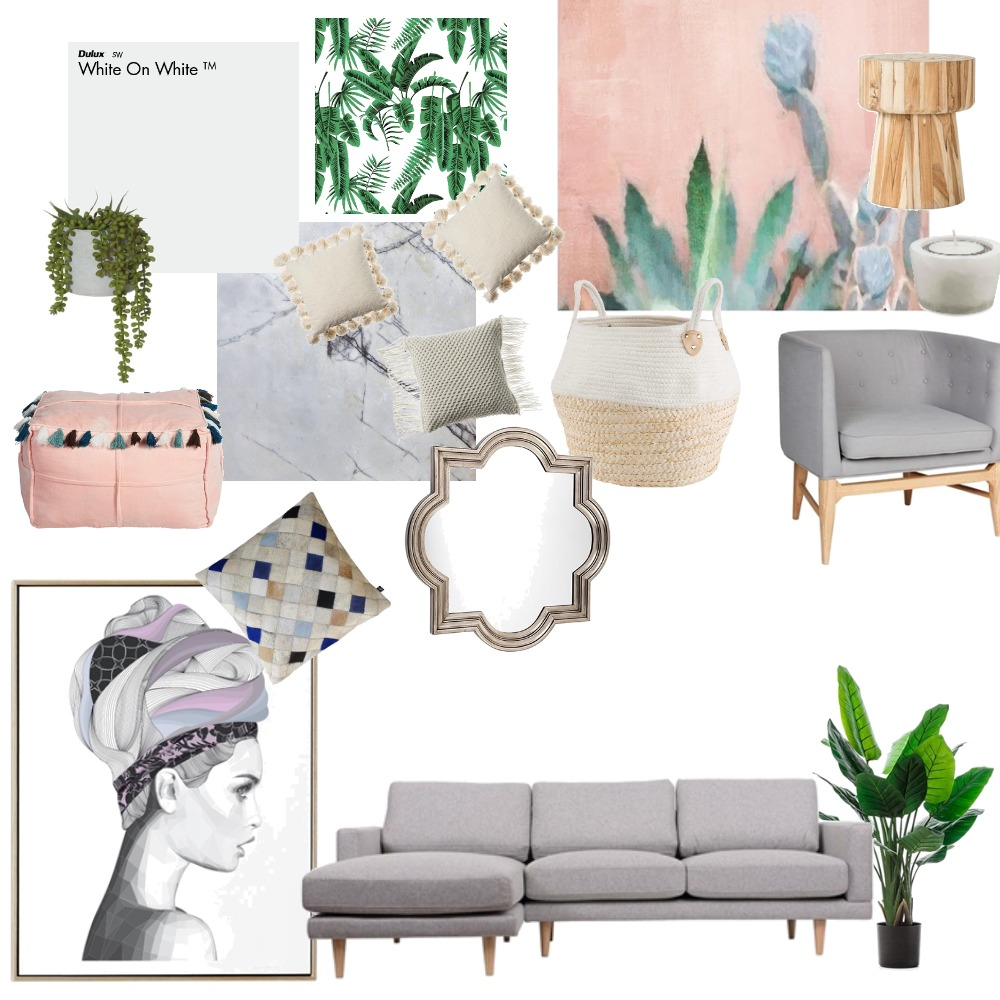 pink and marble and greens Mood Board by azhara on Style Sourcebook