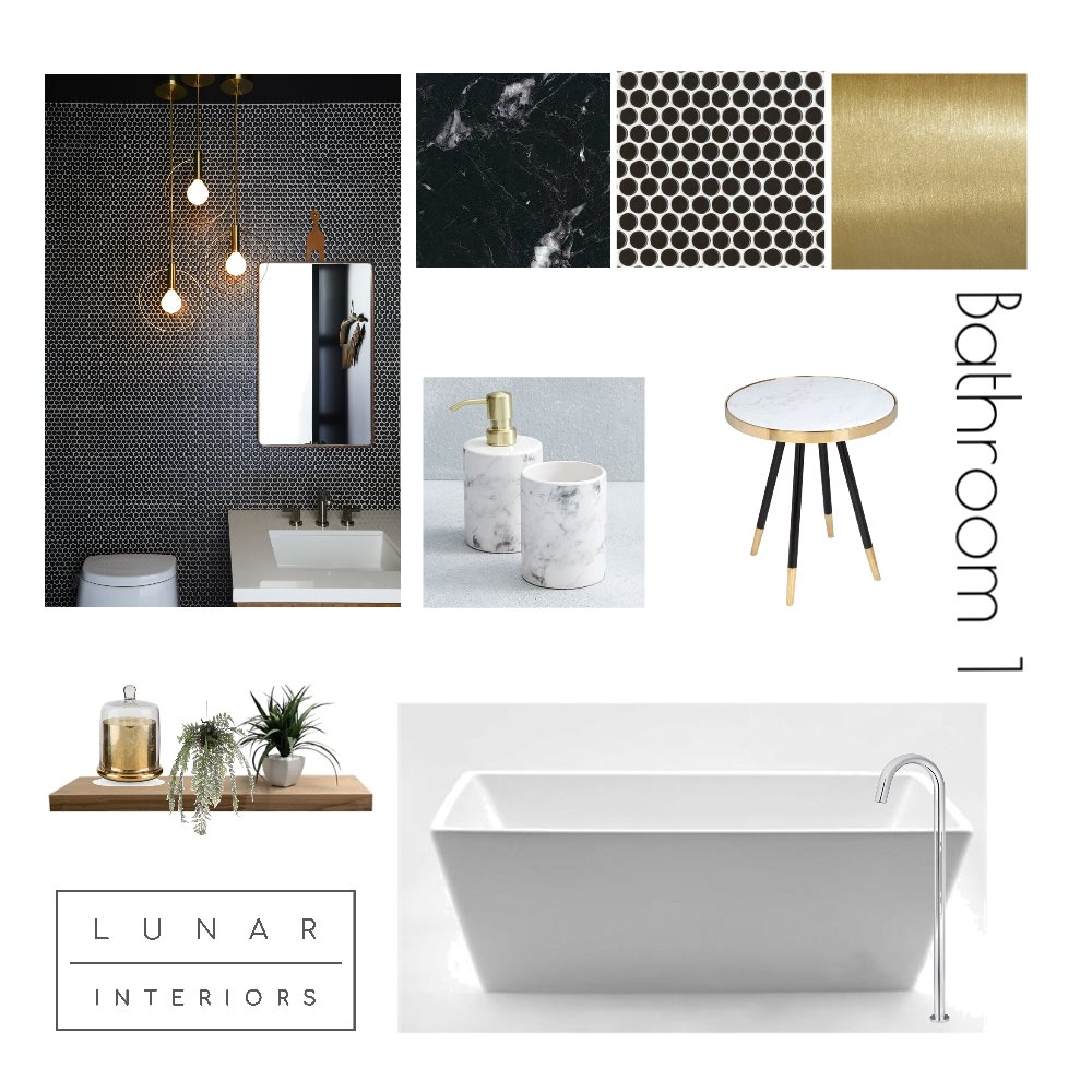 Princess HWY Project - Bathroom 1 Mood Board by Lunar Interiors on Style Sourcebook