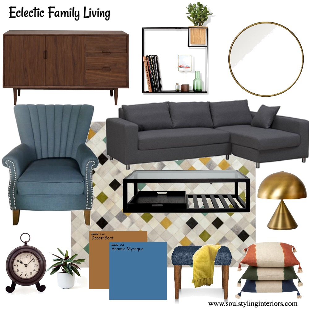 Eclectic family room Mood Board by Krysti-glory90 on Style Sourcebook