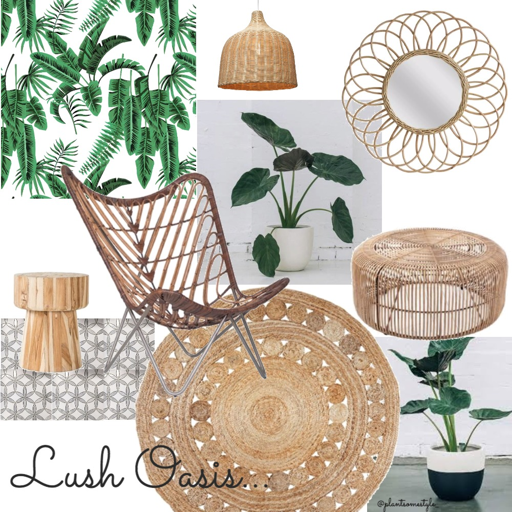 Lush Oasis Interior Design Mood Board by Plant some Style on Style Sourcebook